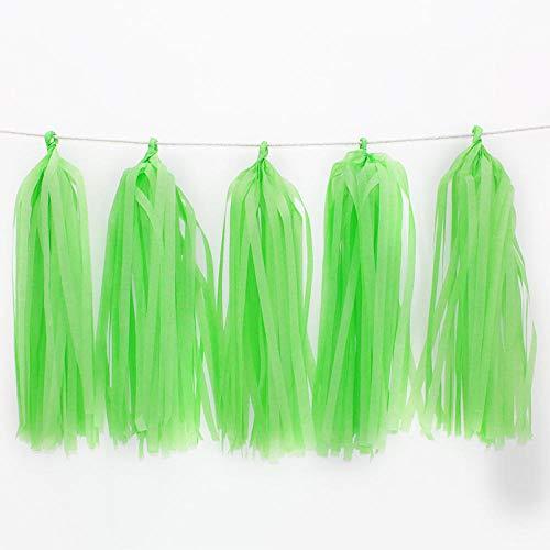 15/20pcs DIY Tissue Paper Tassel Garland for Christmas Halloween Wedding Kids Birthday Party Decorations Baby Shower-5pcs_Light_Green