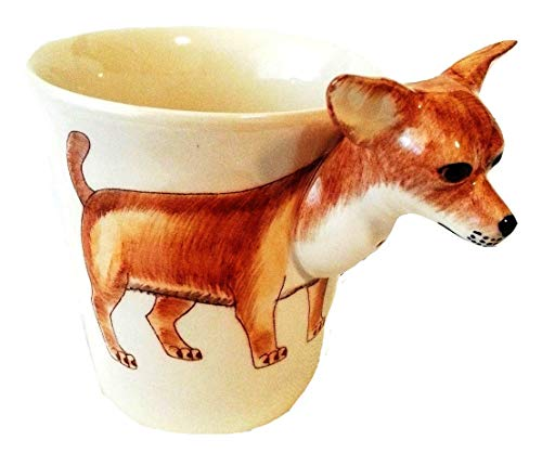 b2see 3D Tasse Chihuahua Hund Tasse 3D Becher Geschenk-Tasse Hunde-Motiv Hundeliebhaber mit Tiermotiv