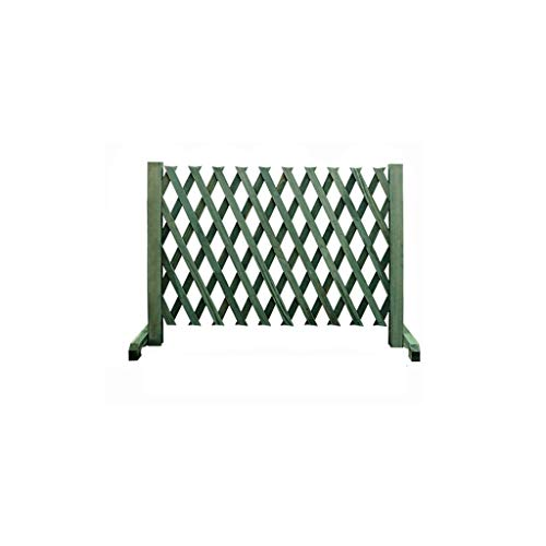 FEIYUGN Expanding Trellis Fence, Mobile and Movable Fence, Solid Wood Garden Plant, Trellis Fence, From Natural Wood, 170x70cm Green FEIYU