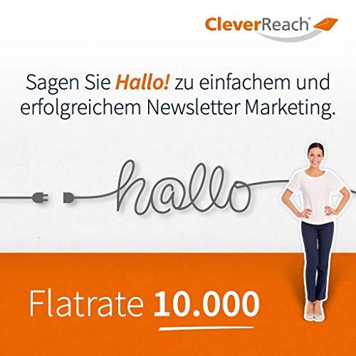 CleverReach Newsletter Software, Email Marketing Automation, Flatrate Tarif 10.000, Web Browser, Kostenfreies Probeabo