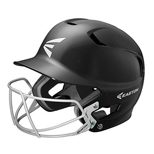 EASTON Z5 Senior Batting Helmet with Baseball Softball Mask | 2019 | Black | Unisex | Dual Density Shock Absorption Foam | High Impact Resistant ABS Shell | Moisture Wicking BioDRI liner