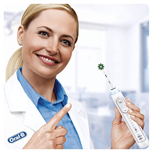 Braun Oral-B 4210201321439 CrossAction Toothbrush Heads with Cleanmaximiser Bristles for Holistic Mouth Cleaning, Pack of 10