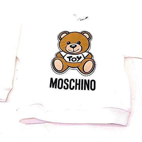 Moschino mpf02zlda00 Sweatshirt, Rundhalsausschnitt, Unisex 74 cm (9-12 Monate)