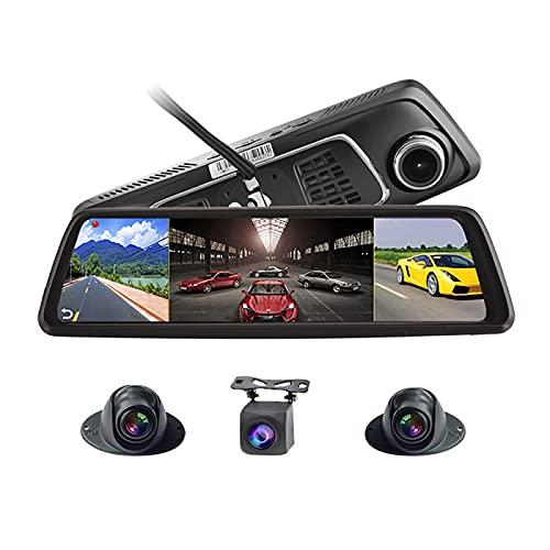LFJG 10'Dash CAM 4G Full HD 1080P Car Dash Camera Recorder, Pantalla Completa 4G De Ultra Gran Angular, Grabación De Medios De Transmisión En Cuatro Direcciones, Visión Nocturna