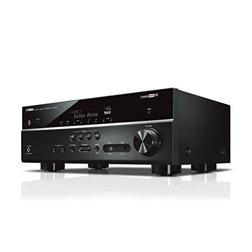 Yamaha RX-V585 Sintoamplificatore MusicCast multicanale – Ricevitore AV 7.2, 80 W per canale su 6 Ohm, supporto 4K, Cinema DSP e Dolby Atmos – WiFi dual band integrato, Bluetooth, USB, Nero