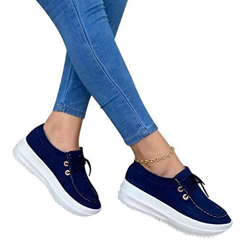 Las mujeres vulcanizadas zapatos de moda resistentes de suela gruesa zapatos de mujer con cordones zapatos deportivos niñas de gran tamaño casual transpirable fitness zapatos deportivos regla