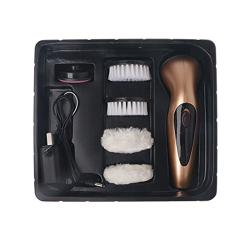 AISme Portable Handheld Rechargeable Automatic Electric Shoe Brush Shine Polisher