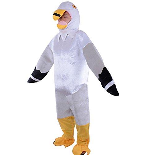 LPATTERN Cosplay Tier Kostüm Bühnenkostüm Eltern-Kind Halloween-Kostüm, Möwe Erwachsener, M(Fabrikgröße: L