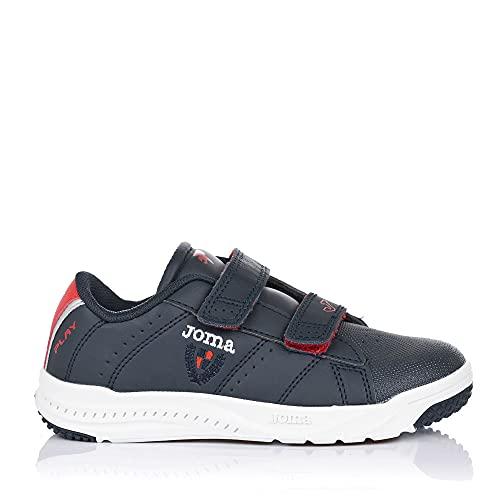 Joma Serie Play Jr Leichtathletik-Schuh, Marineblau/Rot, 39 EU
