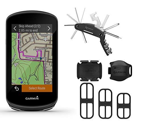 Garmin Edge 1030 Plus GPS Cycling Computer with Included Garmin Bike Speed Sensor 2 and Cadence Sensor 2 with Wearable4U Multi Tool Bundle