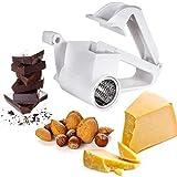 Handgekurbelte Rotary-Käsereiben, mit Edelstahl-Trommel-Handkäsereibe Küchenwerkzeug Mini-Gemüseschredder zum Reiben von Hartkäse-Schokoladennüssen und mehr (weiß)
