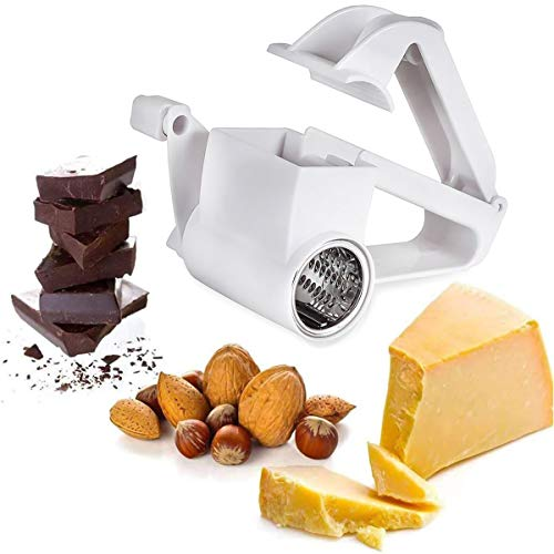 Hand-Cranked Rotary Cheese Graters, with Stainless Steel Drum Handheld...