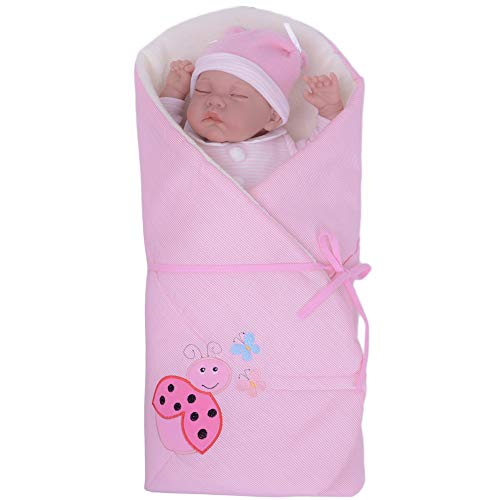 Sevira Kids - Gigoteuse d'emmaillotage Multi-Usage 100% coton certifié - Nid d'ange naissance Rose Coccinelle