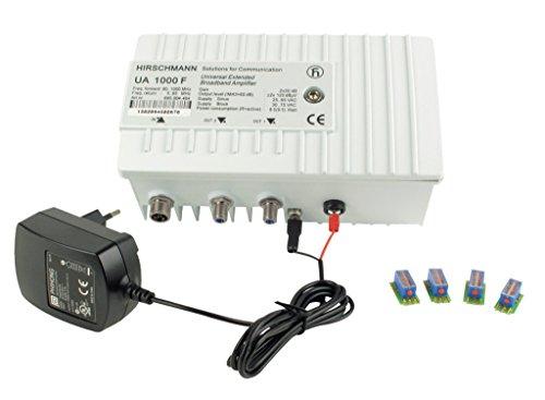 Hirschmann rh-ua1000fh–TV-Signal-Verstärker (F-Type, 9,5W, 230V, 20–55°C,-20–75°C, 192x 85x 116mm) weiß