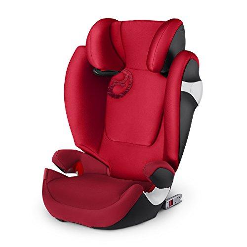 Cybex Seggiolino Auto per Bambini Solution M-Fix, per Auto con e Senza Isofix, Gruppo 2/3/15, 36 Kg, Collezione Colori 2018, Rebel Red
