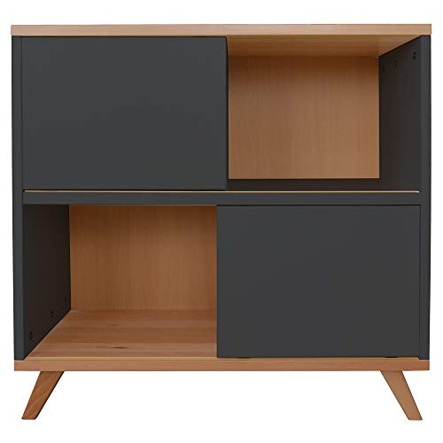 Mobi Furniture commode sideboard kinderkamer kast highboard rek staande rek antraciet