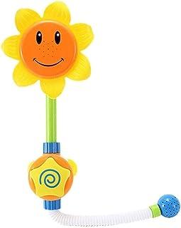 Handheld High Pressure Shower Head Bath Fixtures, Baby Bath Toy Children Sunflower Spray Water Shower Head Tub Faucet Kids...