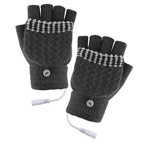 iFCOW Beheizte Handschuhe, USB Beheizte Handschuhe Herren Damen Winter Elektrische Heizung Warme Sporthandschuhe Fäustling