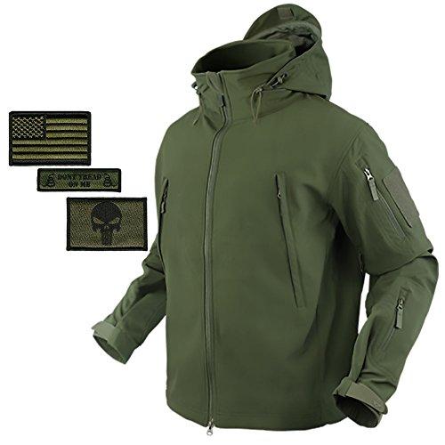 Bundle (Coyote Tan) Condor Summit Softshell Tactical Jacket + 3 Morale Patches