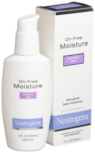 Neutrogena Oil Free Moisture Daily Hydrating Facial Moisturizer & Neck Cream with Glycerin - Fast Absorbing Ultra Gentle Lightweight Face Lotion & Sensitive Skin Face Moisturizer, 4 fl. oz (Pack of 2)