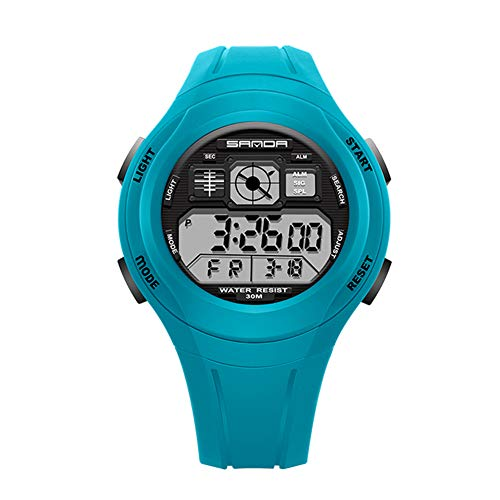 Women's Sports Watch, Waterproof LED Digital Watch for Women with 12/24H Format and Alarm