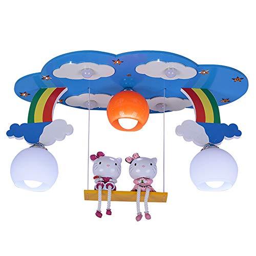 GENGJ Plafonnier Moderne Minimaliste pour Enfants Chambre à Coucher Jardin d'enfants Creative Hello Kitty Fille Chambre Protection oculaire plafonnier