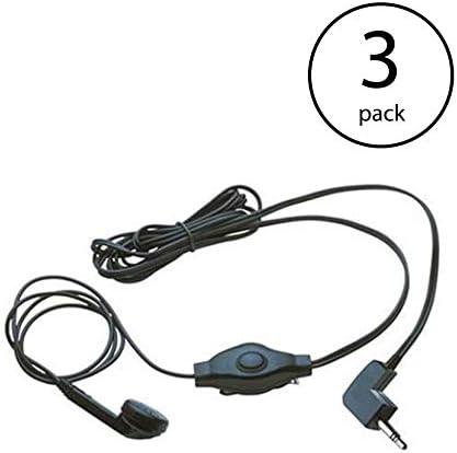 Cobra Earbud and Microphone MicroTalk Walkie Talkie Headset GA EBM2 3 Pack product image