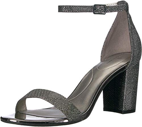 Bandolino Footwear Women's Armory Heeled Sandal, Gunmetal, 9