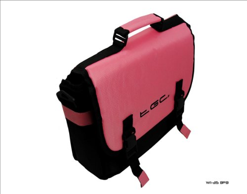 Baby Pink & Black Messenger Style Carry Case Bag 4 Amazon Kindle Touch 3G...