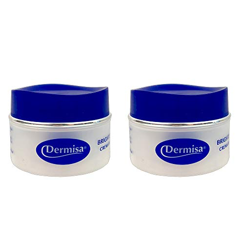 Dermisa Brightening Cream 1.5 Oz / 42 g. For all skin types. Helps brighten complexion. Does not contain hydroquinone. For best results use with Dermisa Brightening Bar. (Pack of 2).