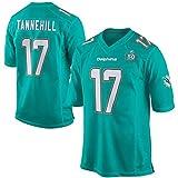 Maillot de Football américain Dolphin 17# Tannehill Rugby Jersey Sports T-Shirt Undershirt Training Short Sleeve Training Wear Absorbing Rapidly Moisture Best Gift-Green-M