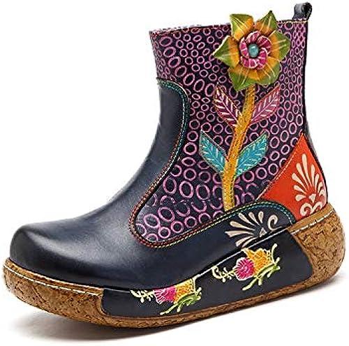 Easy Shopping Go Schuhe Kontrastfarbe,Grille Damenstiefel