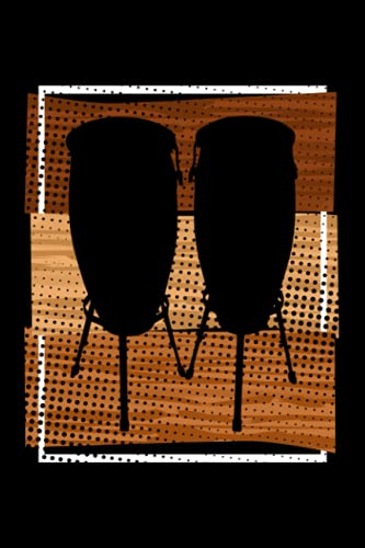 Congas: Notebook / Paperback with Congas motive -in A5 (6x9in) dotted dot grid
