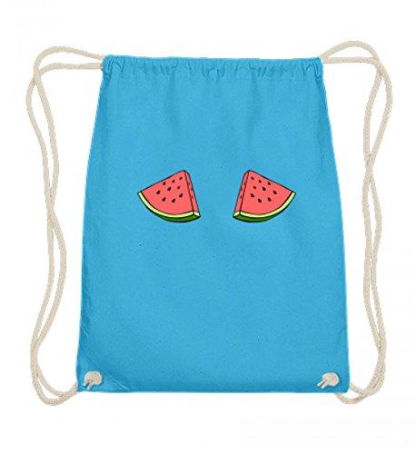 SwayShirt Hochwertige Baumwoll Gymsac - Lustiges Witziges Wassermelonen Brüste Melonen Titten Sommer Strand Boobs T-shirt Damen