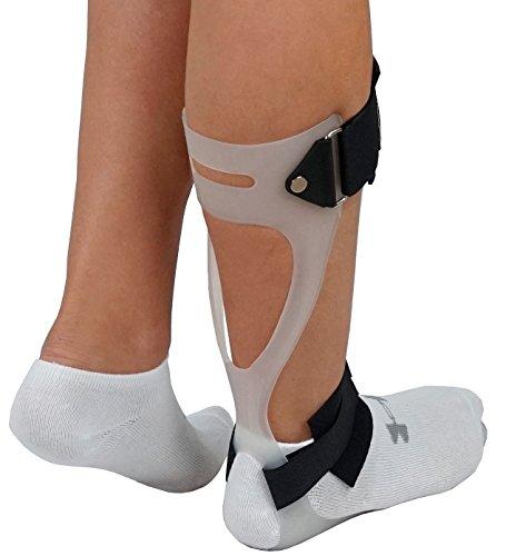 ORTONYX Ortesis de tobillo-pie Sueco AFO Soporte para caída de pie - Derecha mediana blanca