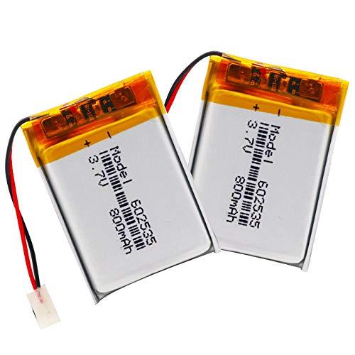 RFGTYH 3,7 V 800 mAh 602535 polímero de Litio Li-Po li Ion batería Recargable...