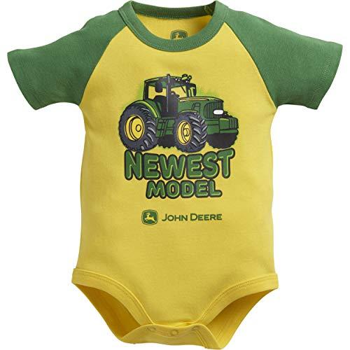 John Deere Baby-Jungen JSB572YN12A T-Shirt, gelb, 9-12 Monate