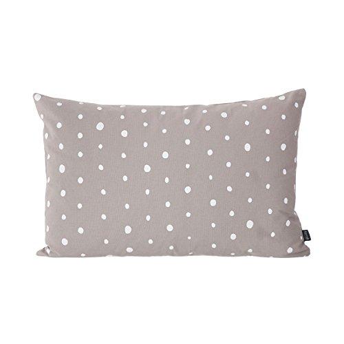 Ferm Living - Kissen - grau-weiß-gepunktet - Baumwolle 60 x 40 cm