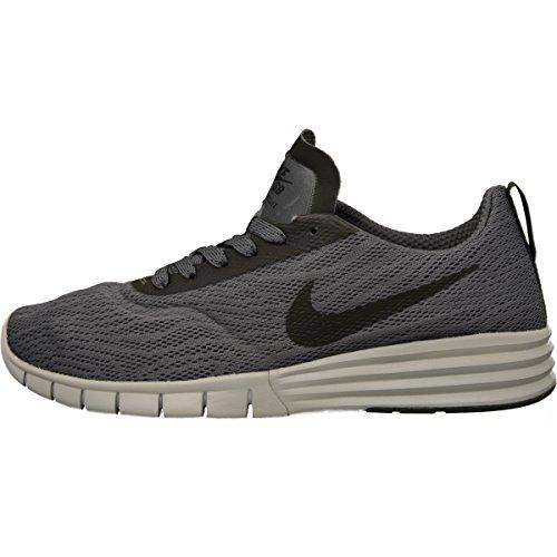 Nike SB Lunar Paul Rodriguez 9, Zapatillas de Skateboarding para Hombre, Gris/Negro/Blanco (Dark Grey/Black-Wolf Grey), 43 EU