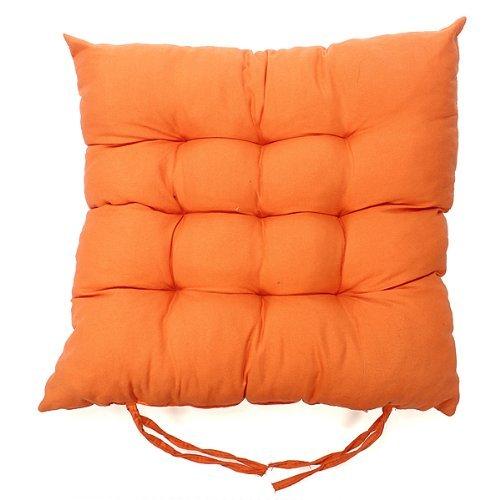 Jellbaby Solide Farbe Kissen mit gebürstetem Bodenschutzmatte, von Kissen Kissen Kissen, Orange, 40 * 40cm
