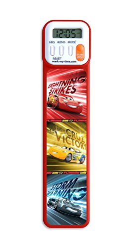 Mark-My-Time 3D Disney/Pixar Cars Digital Bookmark and Reading Timer