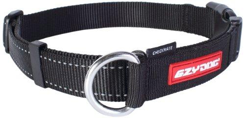 EzyDog Checkmate Hundehalsband - Halsband Hund - Zugstopp Halsband für Hunde - Zughalsband für Hunde - Trainings und Dressurhalsband. Schlupfhalsband für Große, Mittlere und Kleine Hund (M, Schwarz)