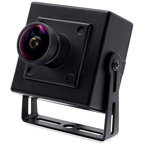 SVPRO Cámara USB 4K Ultra HD Webcam con Sensor IMX317, 3840 x 2160, cámara de vídeo de Alta definición, 30 fps, Lente Ojo de pez de 170 Grados, Mini cámara con Soporte para PC, Ordenador, Mac