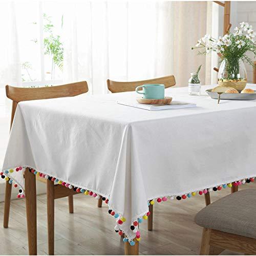 Dthlay rechthoekige decoratie, tafelkleed, eenvoudig, witgekleurde bollen, tafelkleed, woonkamer, salontafel, doek, decoratie