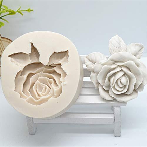 YNNN 3D Rose Flor Torta Herramientas Moldes de Silicona para Herramientas de decoración de Pastel de Boda Herramientas de Resina Molde de la Resina Accesorios para Hornear