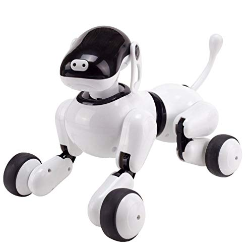 precauti Intelligent Voice Robot Dog Toy Wireless Remote Control Robot Interactive Puppy Dog Intelligent Electronic Pet Educational Toy for Girls Boys Pet Toy