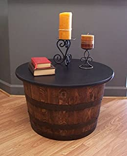 Real Half Whiskey Barrel Coffee Table-End Table