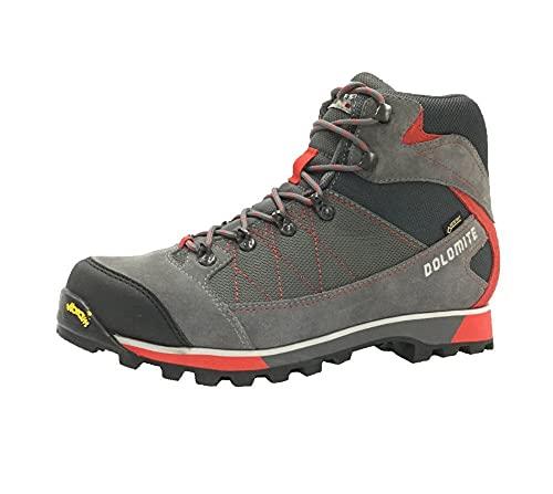 Dolomite Bota MARMOLADA GTX, Stivali da Escursionismo Alti Uomo, Gunmatal Grey/Fiery Red, 42.5 EU