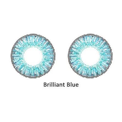 2 Teile/Satz Schöne modische weiche große Augen Make-up farbige Kontaktlinsen Leuchtend blau