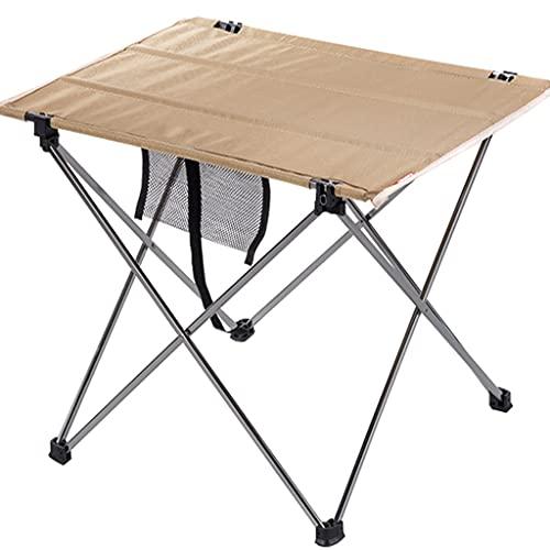 DXIN Camping Picnic Mesa, Portátiles Plegable Mesa, 1680D Tela Oxford Mesa Plegable Aluminio, Puede Soportar 20 Kg, para Cenar Picnics Picnics Cocinar Al Aire Libre Senderismo Playa